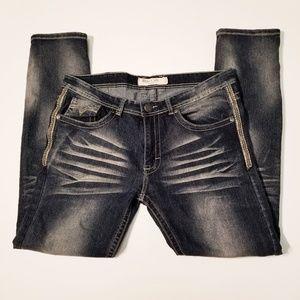 Blue Cult Denim Distressed Men's Jeans Size 34x32